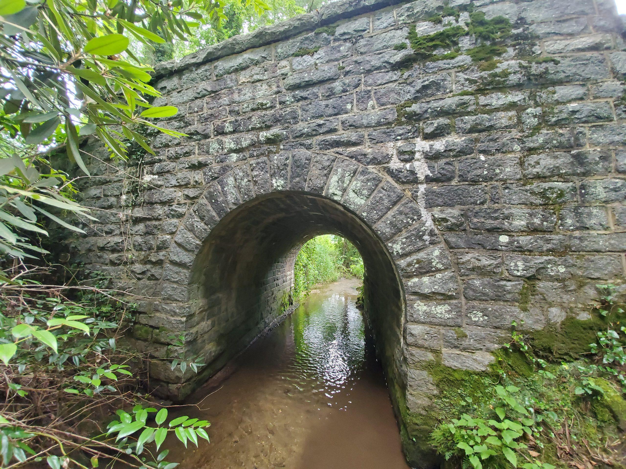 Stone arch bridge Kanuga Road