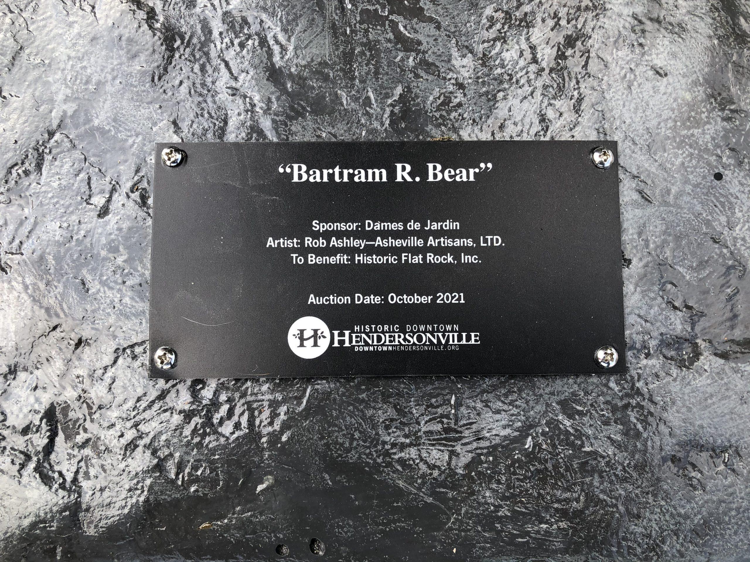 Bartram R. Bear Historic Flat Rock